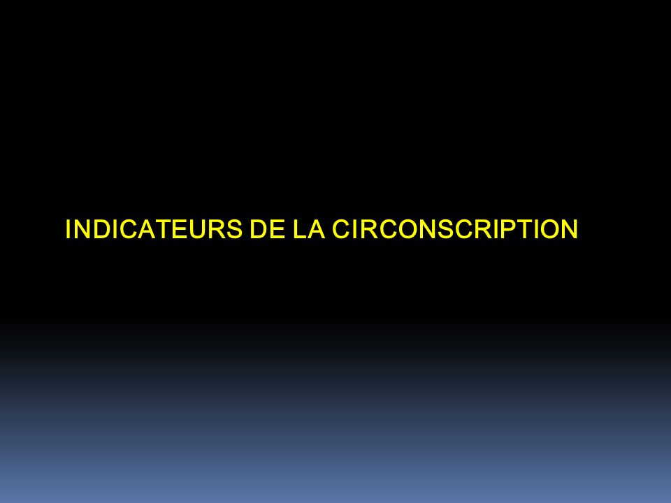 INDICATEURS DE LA CIRCONSCRIPTION