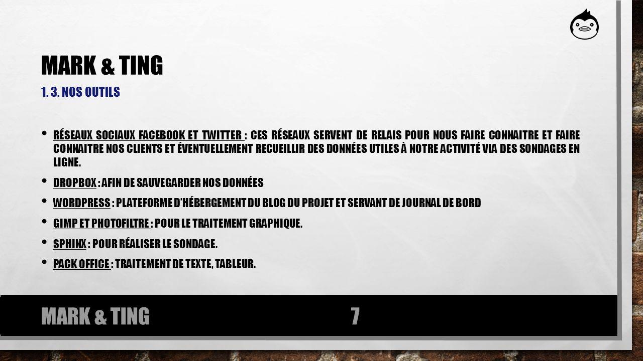 1. 3. NOS OUTILS RÉSEAUX SOCIAUX FACEBOOK ET TWITTER : CES RÉSEAUX SERVENT DE RELAIS POUR NOUS FAIRE CONNAITRE ET FAIRE CONNAITRE NOS CLIENTS ET ÉVENT