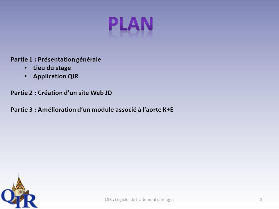 QIR : Logiciel de traitement d images23 II. Gestion de projet Planning final