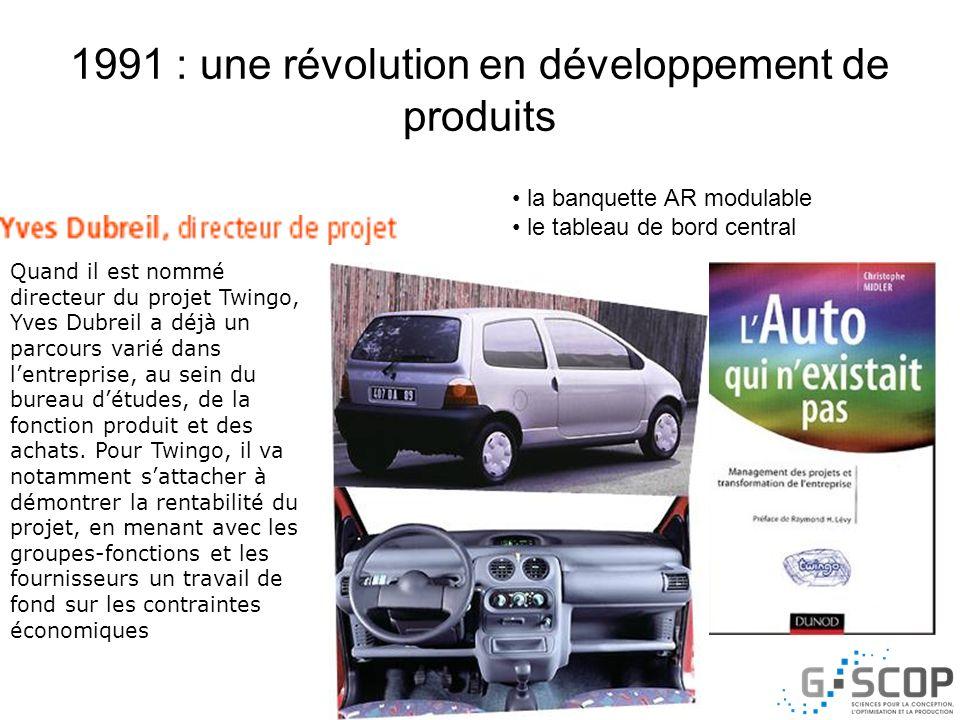 1991 : une révolution en développement de produits Quand il est nommé directeur du projet Twingo, Yves Dubreil a déjà un parcours varié dans lentrepri