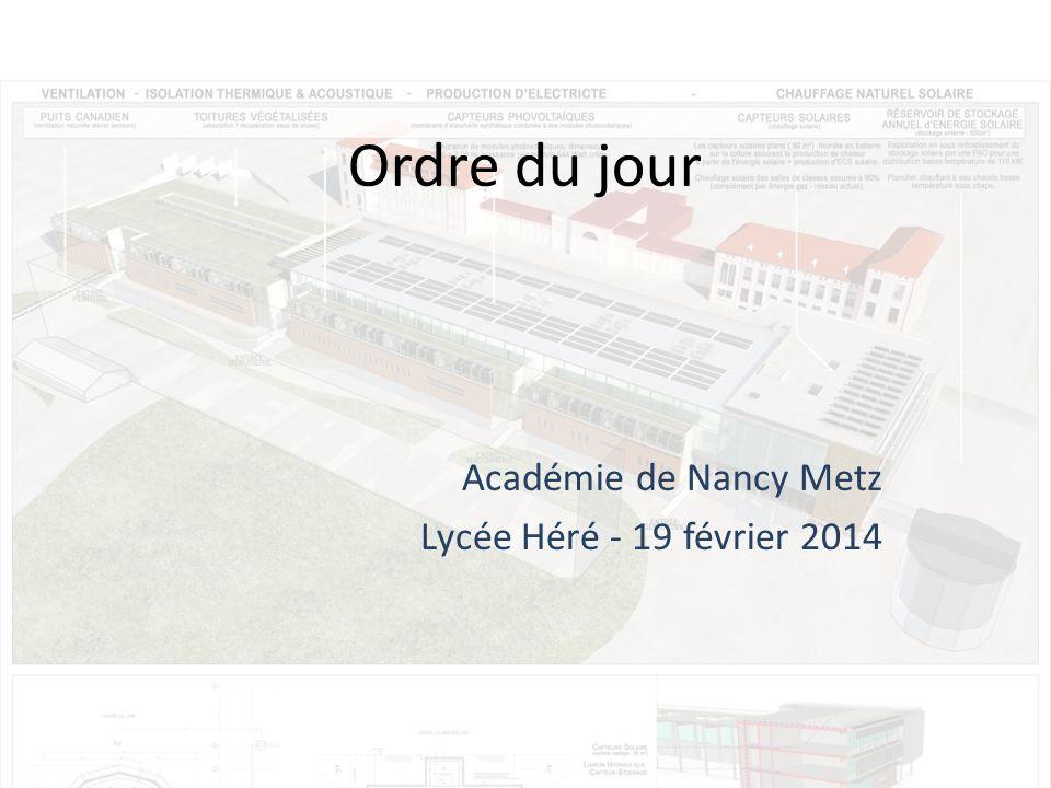 Ordre du jour Académie de Nancy Metz Lycée Héré - 19 février 2014