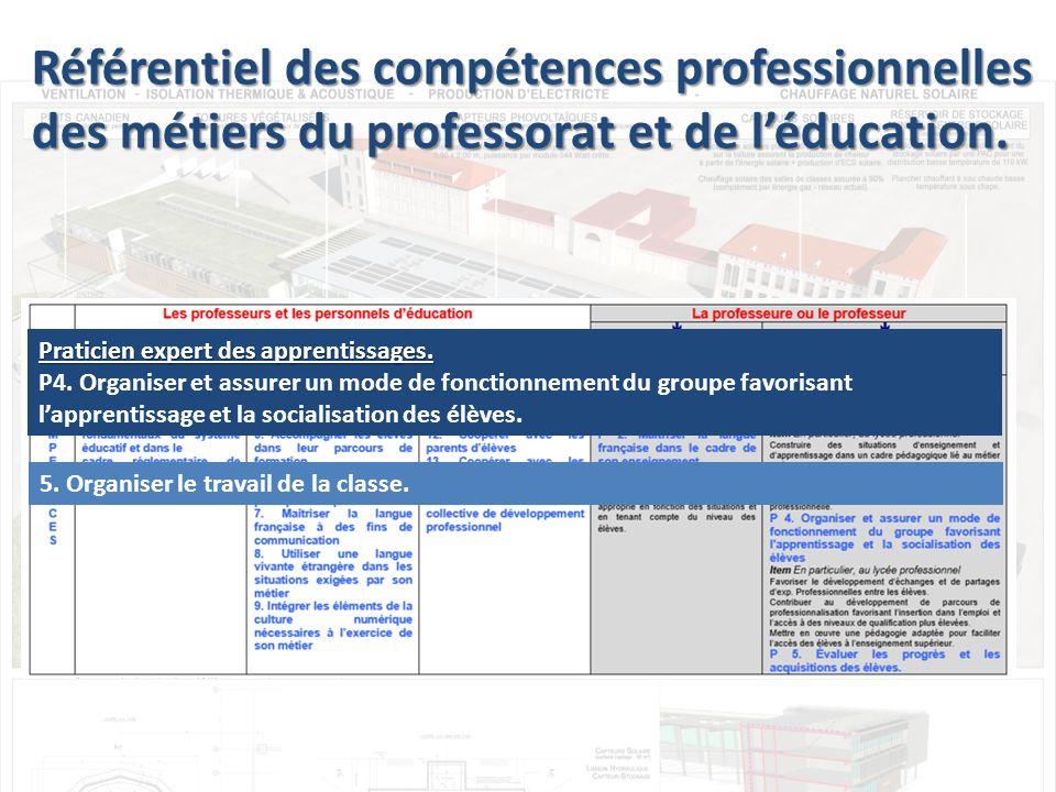 Praticien expert des apprentissages.P4.