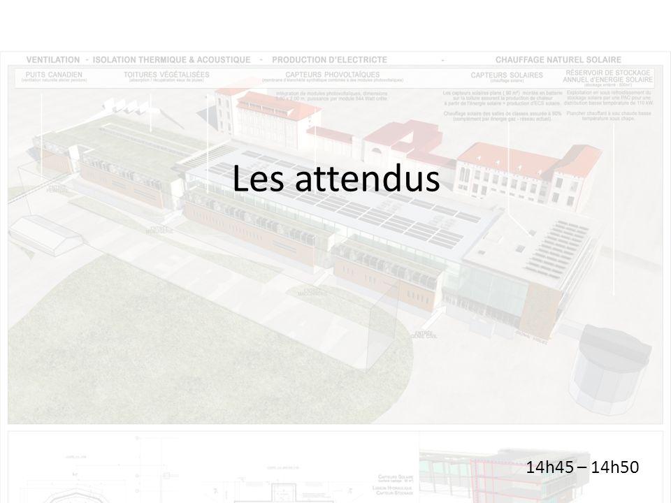 Les attendus 14h45 – 14h50