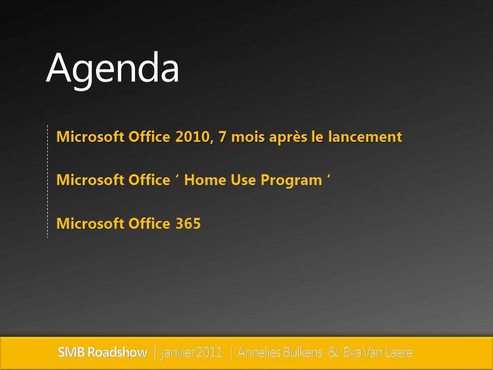 Microsoft Office 2010, 7 mois après le lancement Microsoft Office Home Use Program Microsoft Office 365