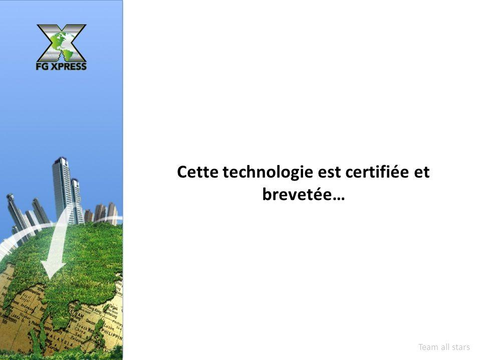 Cette technologie est certifiée et brevetée… Team all stars