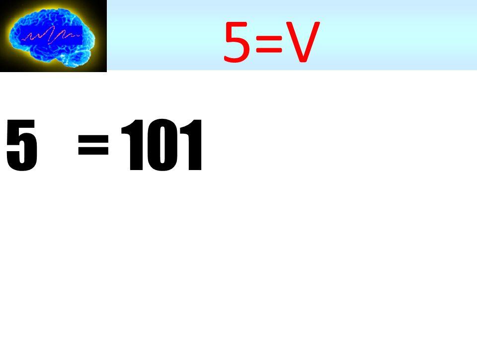 5 10 = 101 2 5=V Système binaire (base-2) cf.