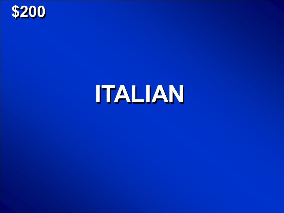 © Mark E. Damon - All Rights Reserved $200 ITALIAN