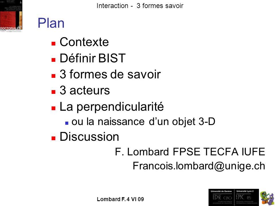 - TECFA UniGe Interaction - 3 formes savoir Lombard F. 4 VI 09 ->Arbre