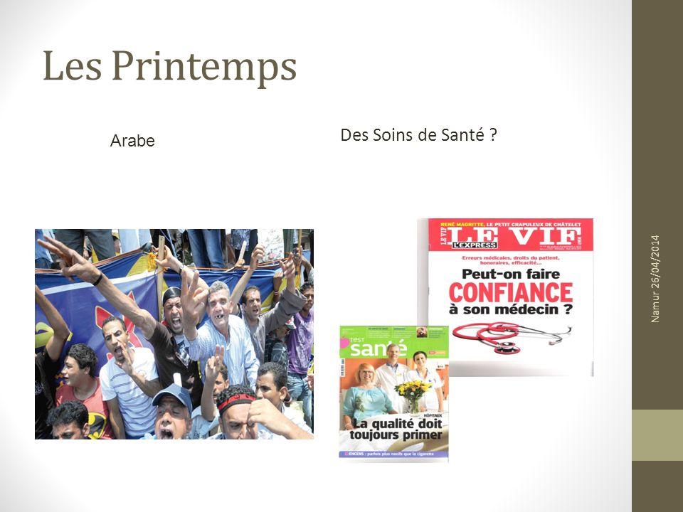 Les Printemps Des Soins de Santé ? Arabe Namur 26/04/2014