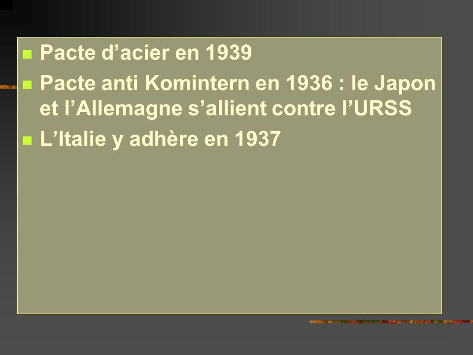 De nouveaux fronts souvrent : - En Méditerranée - A lEST : rupture du Pacte de non- agression 21/6/1941: Hitler déclenche loffensive « Barbarossa » contre lURSS retard dans le projet à cause de la résistance des Britanniques Pertes effroyables chez les civils comme chez les militaires, civils maltraités, juifs massacrés