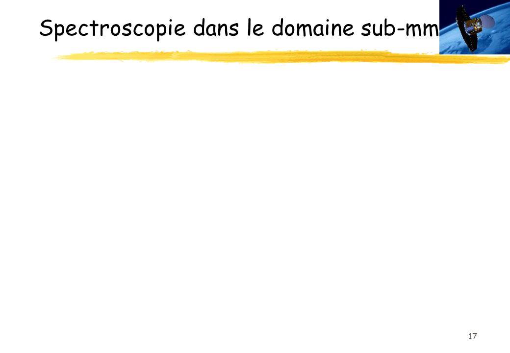 17 Spectroscopie dans le domaine sub-mm