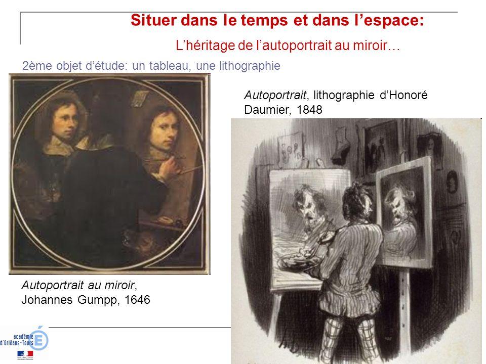 Situer dans le temps et dans lespace: Lhéritage de lautoportrait au miroir… Autoportrait au miroir, Johannes Gumpp, 1646 Autoportrait, lithographie dH