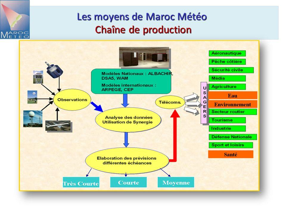 Les moyens de Maroc Météo Chaîne de production