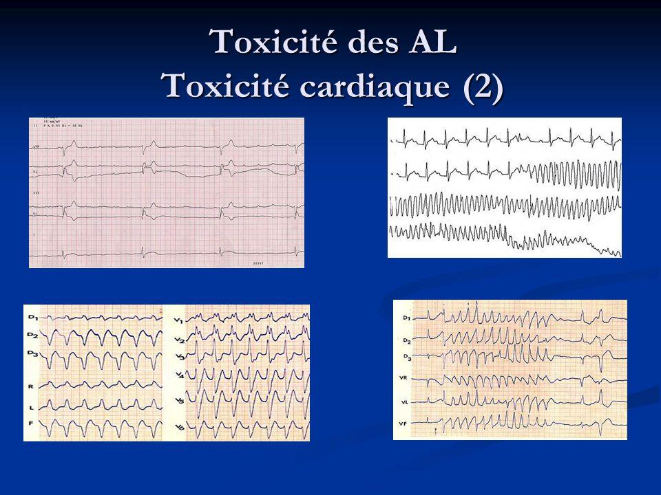 Toxicité des AL Toxicité cardiaque (2)