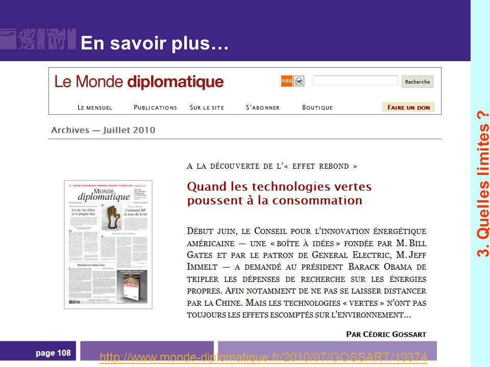 En savoir plus… page 108 http://www.monde-diplomatique.fr/2010/07/GOSSART/19374 3. Quelles limites ?