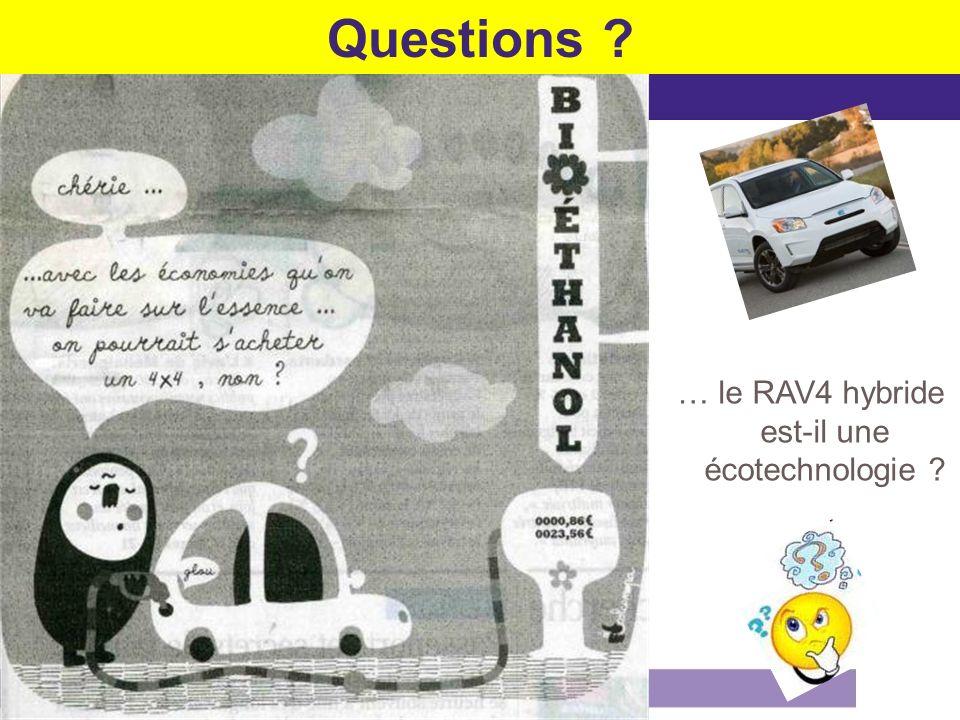 Questions ? … le RAV4 hybride est-il une écotechnologie ?