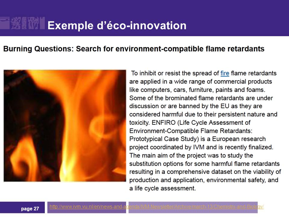 Exemple déco-innovation page 27 http://www.ivm.vu.nl/en/news-and-agenda/IVM-Newsletter/Archive/march-13/Chemistry-and-Biology/
