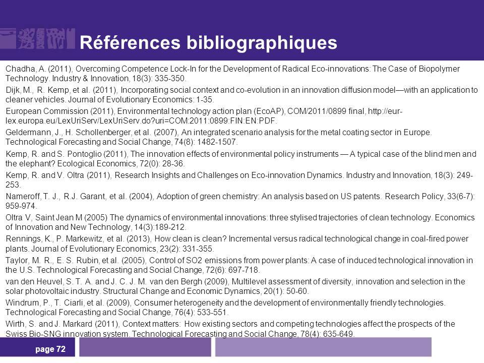 Références bibliographiques Chadha, A.