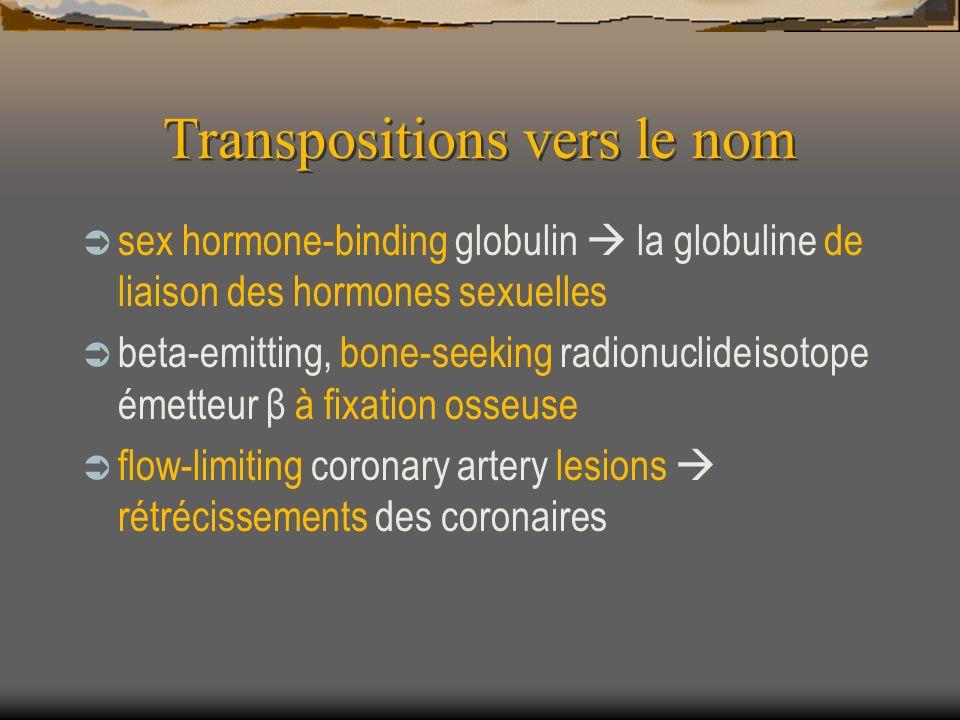 Transpositions vers le nom sex hormone-binding globulin la globuline de liaison des hormones sexuelles beta-emitting, bone-seeking radionuclideisotope