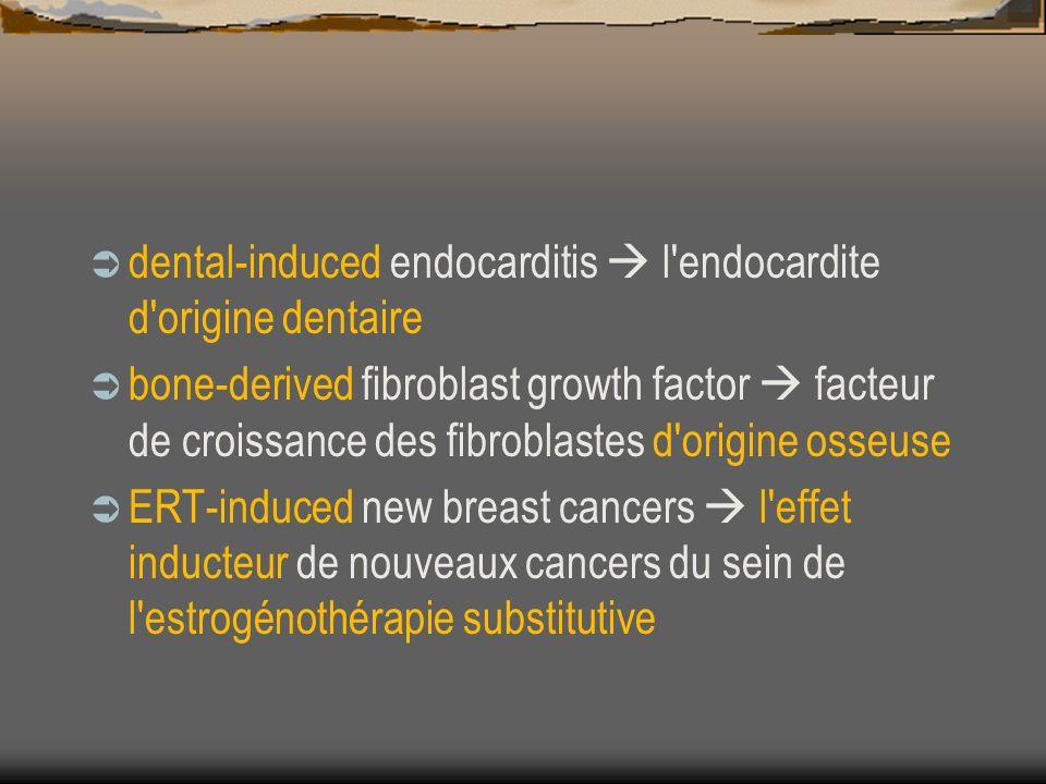 dental-induced endocarditis l'endocardite d'origine dentaire bone-derived fibroblast growth factor facteur de croissance des fibroblastes d'origine os