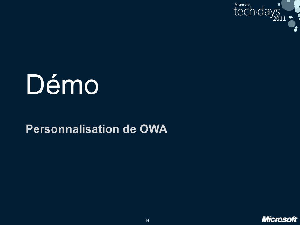 11 Démo Personnalisation de OWA
