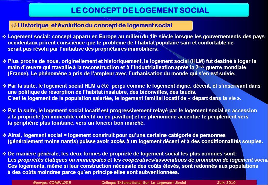 Logement social: concept apparu en Europe au milieu du 19 e siècle lorsque les gouvernements des pays occidentaux prirent conscience que le problème d