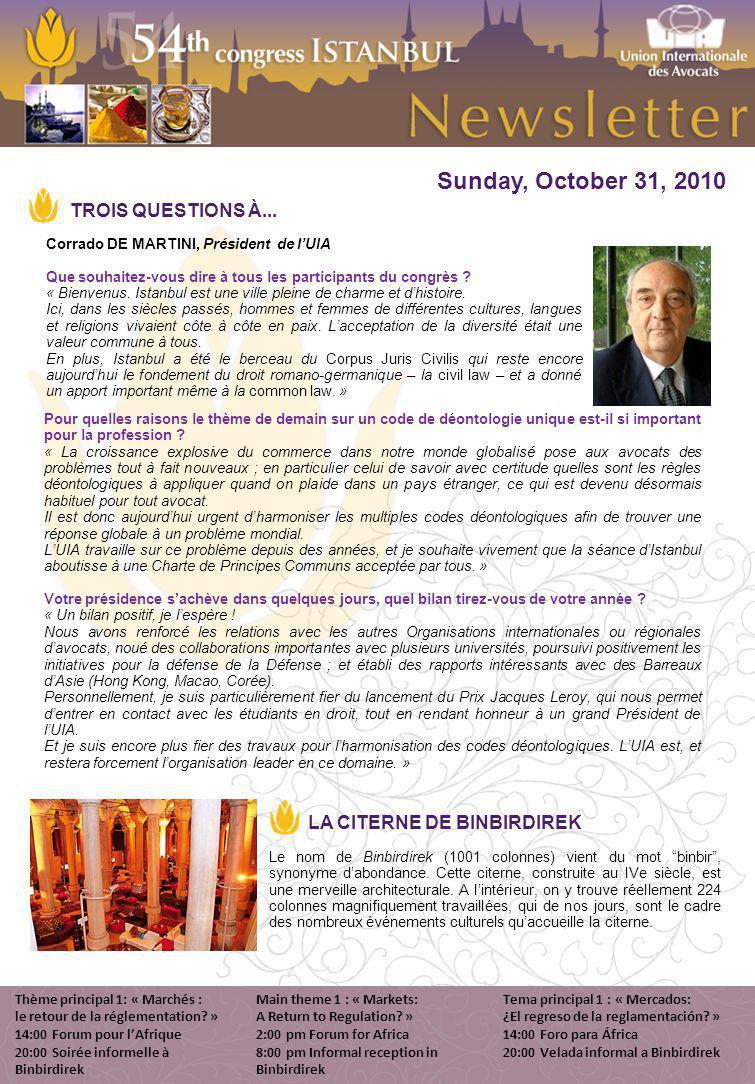 Sunday, October 31, 2010 Le nom de Binbirdirek (1001 colonnes) vient du mot binbir, synonyme dabondance.
