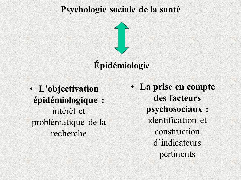 Psychologie sociale de la santé Épidémiologie Lobjectivation épidémiologique : intérêt et problématique de la recherche La prise en compte des facteur