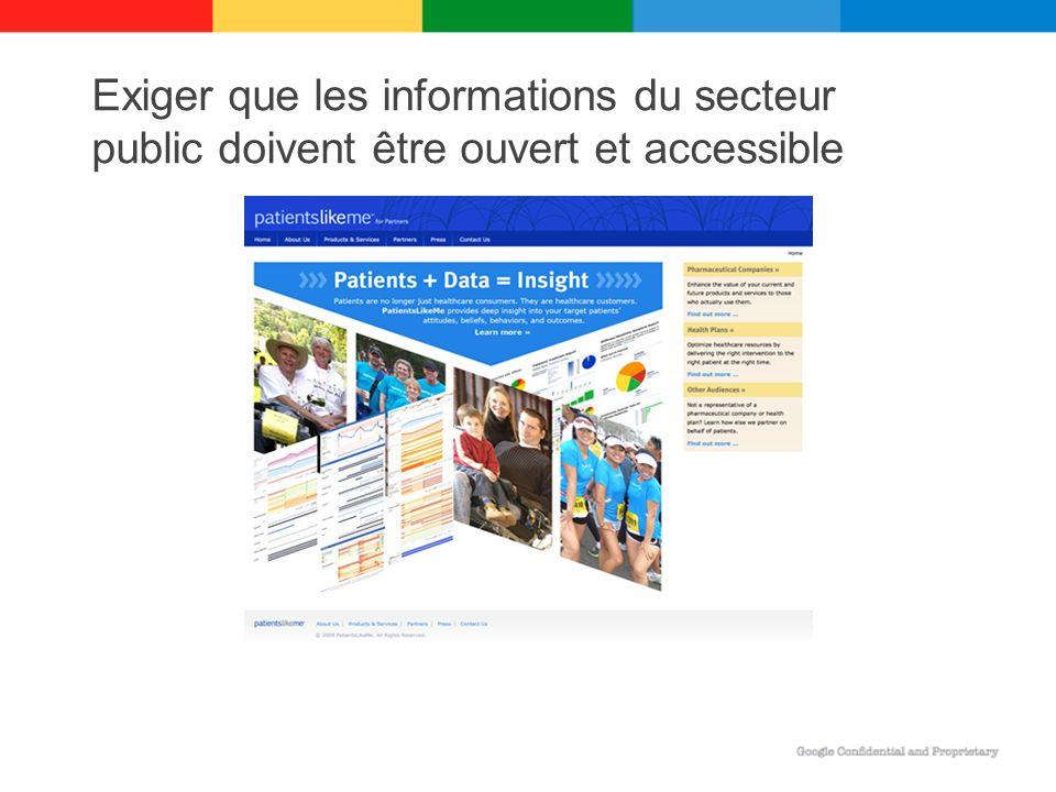Exiger que les informations du secteur public doivent être ouvert et accessible