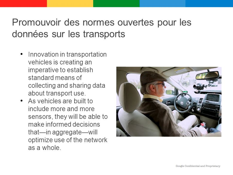 Innovation in transportation vehicles is creating an imperative to establish standard means of collecting and sharing data about transport use. As veh