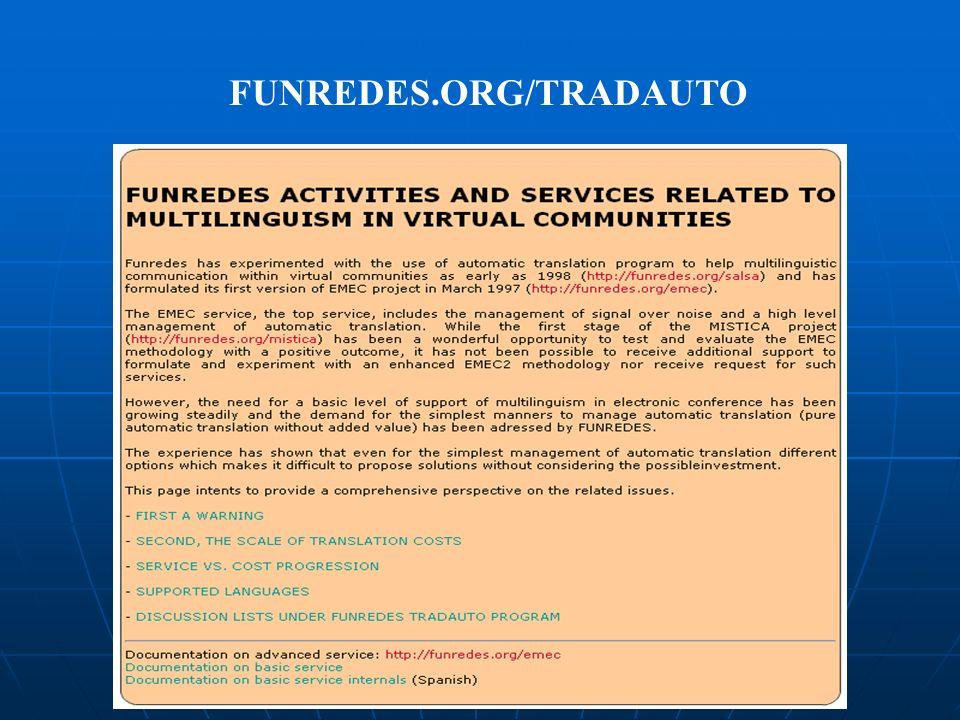 FUNREDES.ORG/TRADAUTO