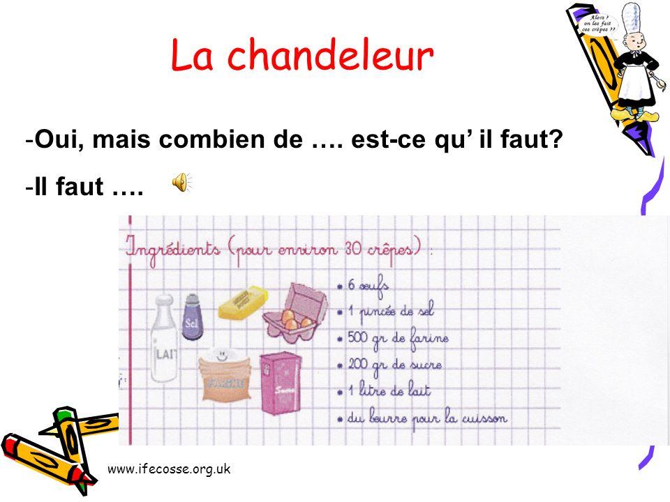 www.ifecosse.org.uk La chandeleur Pour faire des crêpes, il faut aussi ….