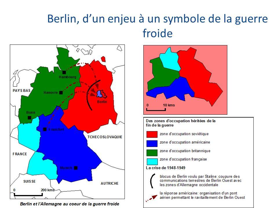 Berlin, dun enjeu à un symbole de la guerre froide