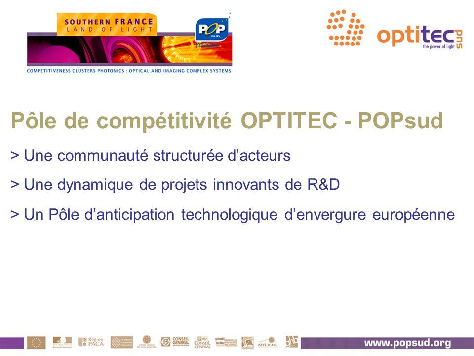 Pôle de compétitivité OPTITEC - POPsud > Une communauté structurée dacteurs > Une dynamique de projets innovants de R&D > Un Pôle danticipation techno