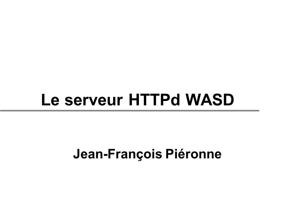 Le serveur HTTPd WASD Jean-François Piéronne