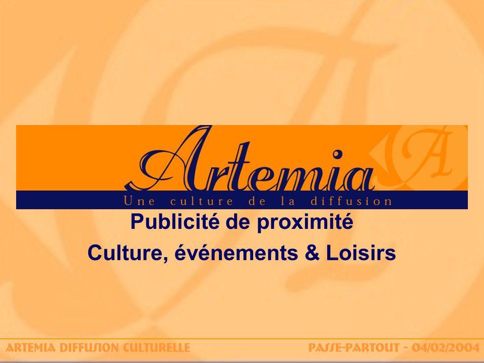 Publicité de proximité Culture, événements & Loisirs