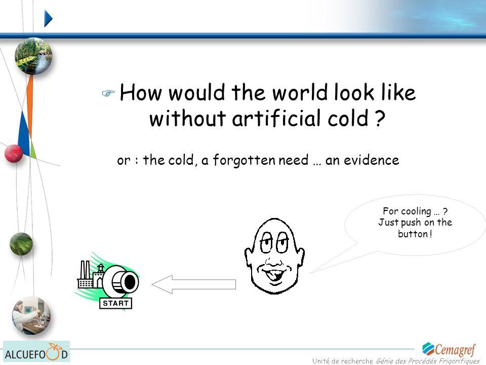Unité de recherche Génie des Procédés Frigorifiques But the cold throughout the world is also … …, today and tomorrow