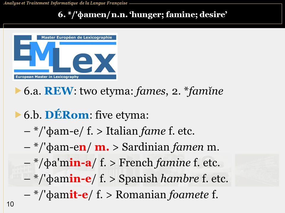 Analyse et Traitement Informatique de la Langue Française 10 6.