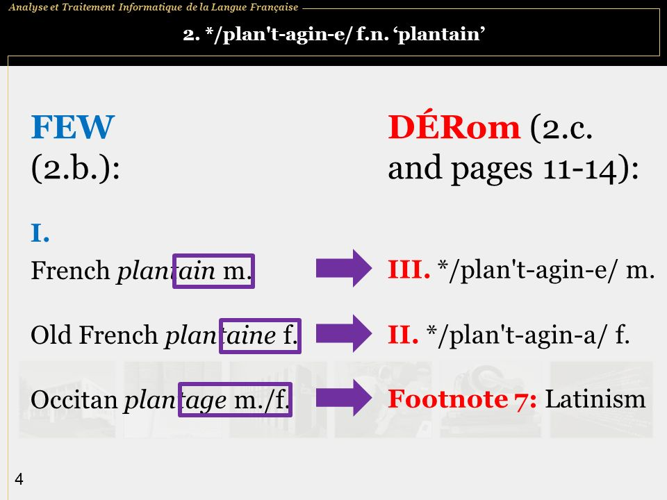 Analyse et Traitement Informatique de la Langue Française 5 4.