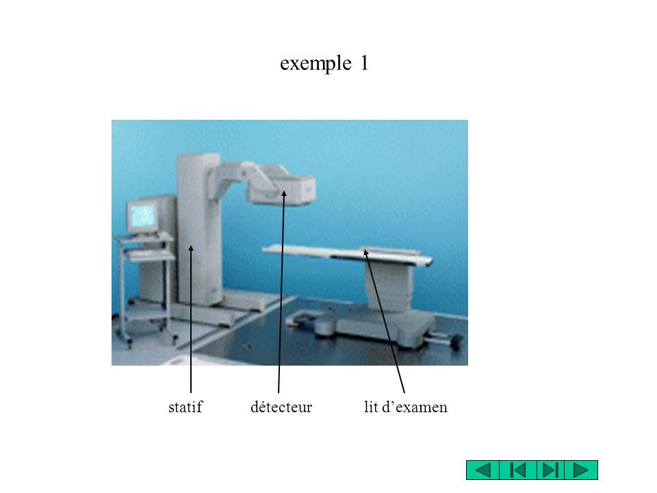 statif détecteur lit dexamen exemple 1