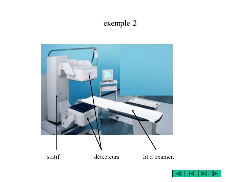 statif détecteurs lit dexamen exemple 2