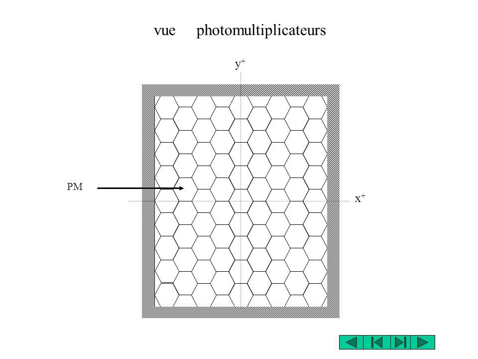 y+y+ x+x+ vue photomultiplicateurs PM
