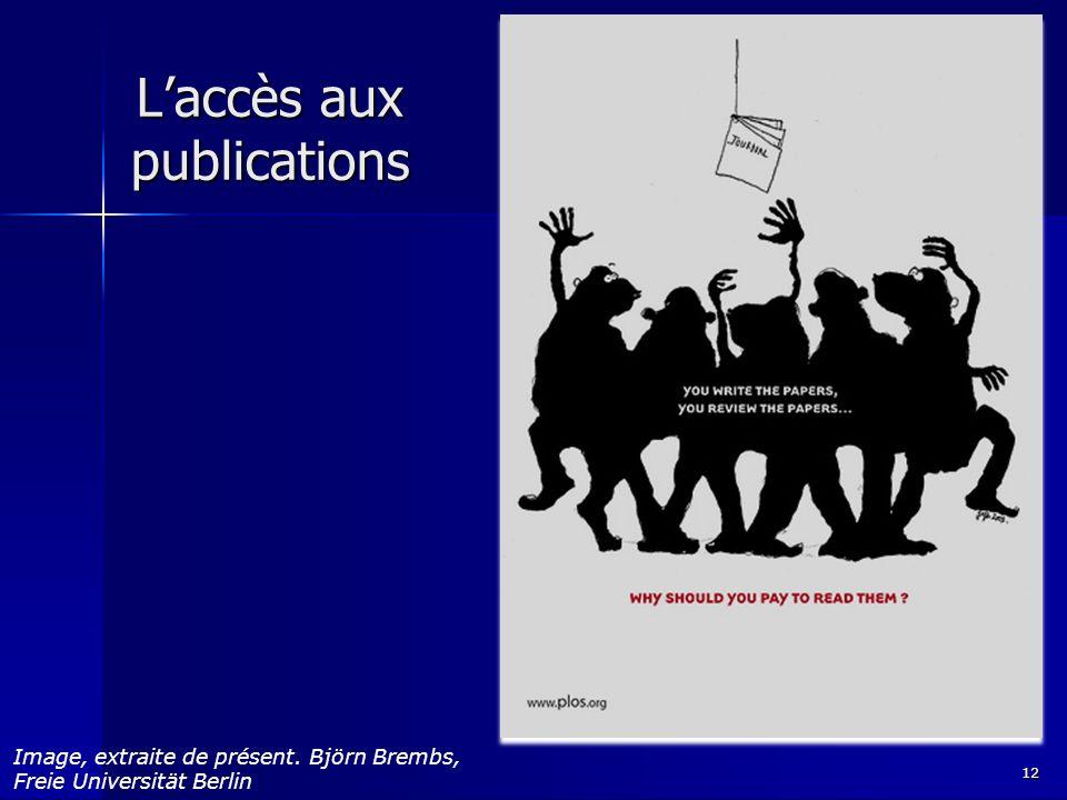 Laccès aux publications 12 Image, extraite de présent. Björn Brembs, Freie Universität Berlin