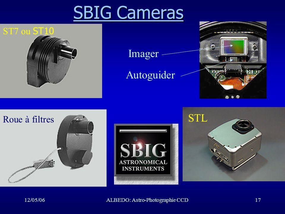 12/05/06ALBEDO: Astro-Photographie CCD17 SBIG Cameras SBIG Cameras ST7 ou ST10 STL Roue à filtres Imager Autoguider