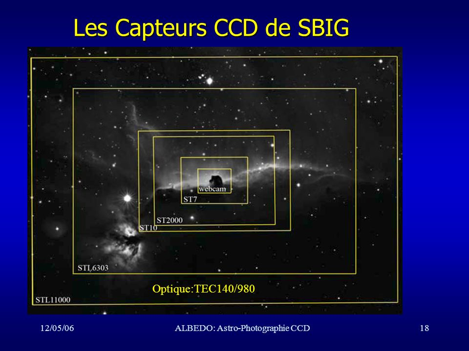 12/05/06ALBEDO: Astro-Photographie CCD18 Les Capteurs CCD de SBIG Optique:TEC140/980