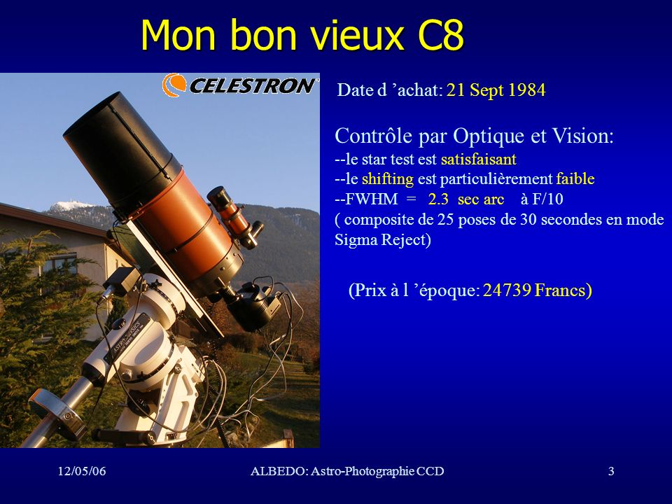 12/05/06ALBEDO: Astro-Photographie CCD24 Mon observatoire Vue sud