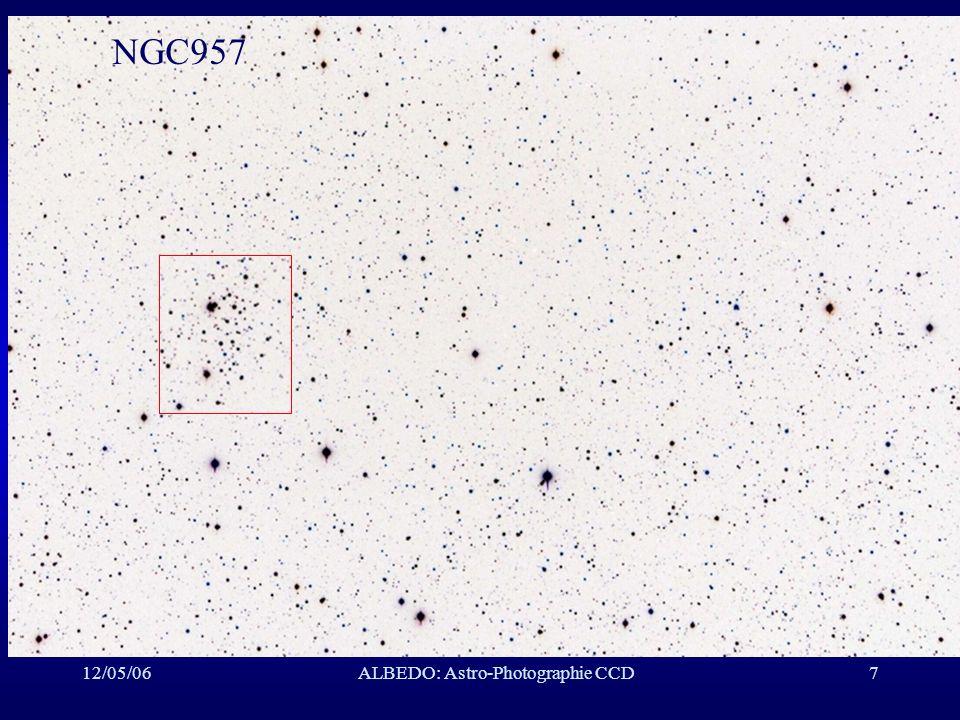 12/05/06ALBEDO: Astro-Photographie CCD48 IC410: Nébuleuse, Cocher Instrument: ED80/7.5/ST10XME Temps de pose: RGB (11,11,10)x5 minutes, bin 1x1, Tc=-25°C Date: 1/11/05 Lieu: SMU Transparence: bonne