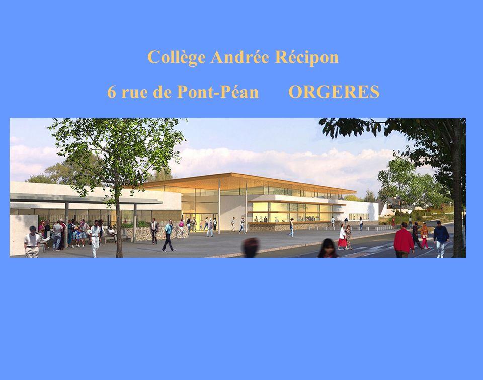 Collège Andrée Récipon 6 rue de Pont-Péan ORGERES