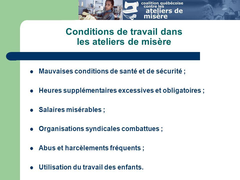 Extrait du code de conduite de Gap « This Code of Vendor Conduct applies to all factories that produce goods for Gap inc.