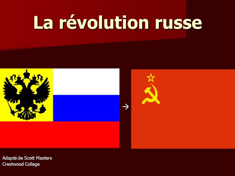Les deux révolutions de 1917 La révolution de mars (12 mars) La révolution de mars (12 mars) La révolution de novembre (6 novembre) La révolution de novembre (6 novembre)